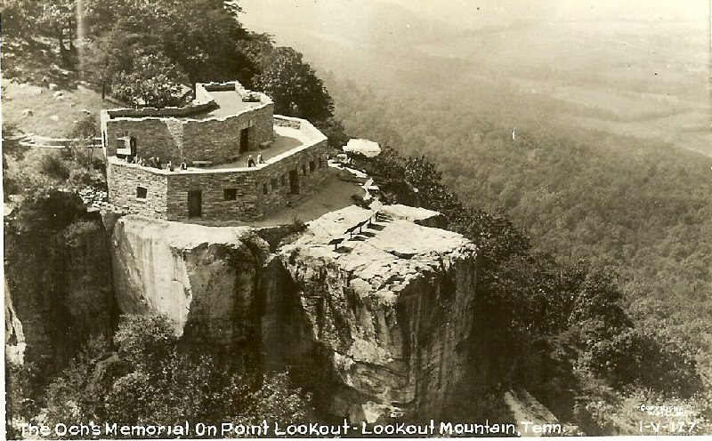 Postcards from the past in hamiton county tennessee ochs memorial at point lookout lookout mountain tennessee sciox Gallery